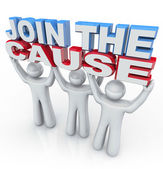 Join the Cause - Holding Words — Stock Photo
