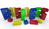 Build Your Business - Toy Blocks Form Word — Stock Photo
