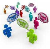 Tack - uppskattande tacka varandra — Stockfoto