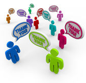 Thank You - Appreciative Thanking Each Other — Foto Stock