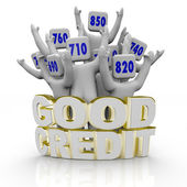 Good Credit Scores - Cheering — Stock Photo