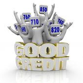 Pointages de crédit bon - acclamations — Photo