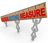 Success Beyond Measure - Team Lifting Ruler — Stock Photo