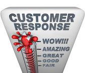 термометр - ответ клиента — Стоковое фото