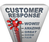 Thermometer - Customer Response — 图库照片