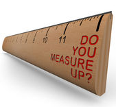 Ruler - Do You Measure Up? — Stock Photo