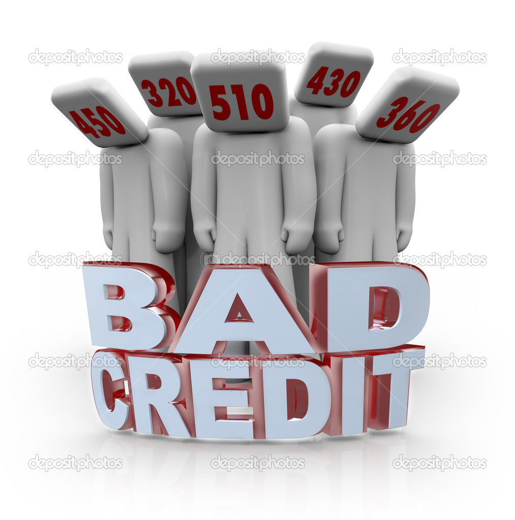 Bad Credit Scores - People Depressed with Number Heads | Stock Photo ...