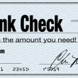 Stock Photo: Blank Check - Financial Freedom from Wealth