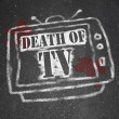 Stock Photo: Death of TV - Murdered by New Media