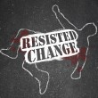 Resisting Change Leads to Obsolescence or Death - Stock Photo