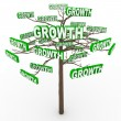 Royalty-Free Stock Photo: Growth Tree - Words on Branches Symbolize Organic Growing