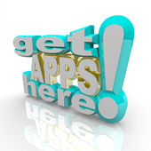 Get Apps Here - Application Marketplace — Stock Photo