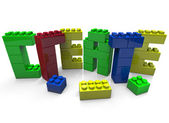 Create - Word Built in Toy Blocks — Stock Photo