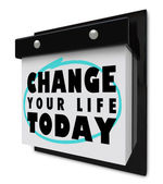 Change Your Life Today - Wall Calendar — Stock Photo