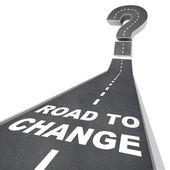 Estrada para mudar - palavras na rua — Foto Stock