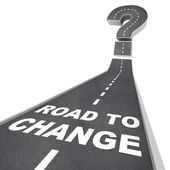 Road to Change - Words on Street — Stock Photo