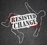 Resisting Change Leads to Obsolescence or Death — 图库照片
