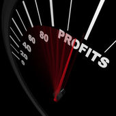 Speedometer - Rising Profits Successful Business — Stok fotoğraf
