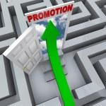 Promotion in Maze - Open Door to Career Success — Stock Photo