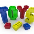 Toys - Building Blocks for Creative Playing — Stok fotoğraf