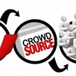 Crowdsourcing - Diagram of Crowd Source Project - Stock Photo