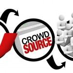 crowdsourcing - diagrama del proyecto de código fuente público — Foto de Stock