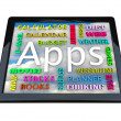 Table Computer - Apps Words for Applications - Stok fotoraf