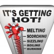 Thermometer - Mercury Rising Bursting - Heat Rising — Stock Photo