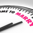 Time to Marry - Clock for Wedding Ceremony — Stock Photo
