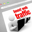 Boost Web Traffic - Internet Screen Shot — Foto de Stock