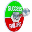 Success vs Failure - Toggle Switch — Stock Photo