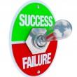 Success vs Failure - Toggle Switch — Stock Photo