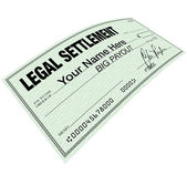 Legal Settlement - Blank Check Disbersement — Stock Photo
