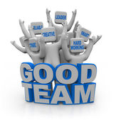 Good Team - with Teamwork Qualities — Stock Photo