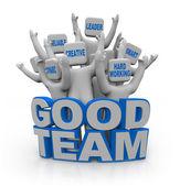 Good Team - with Teamwork Qualities — Stock Photo