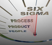 Six Sigma - Speedometer Speeding to Certification — Zdjęcie stockowe
