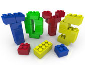 Toys - Building Blocks for Creative Playing — Stock Photo