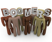 Boomers - of Different Races and Older Age — Stock Photo