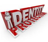 Identity Protection - Combination Lock Man — Stock Photo