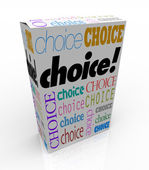 Choice - A Product Box Gives You an Alternative to Choose — Stock Photo
