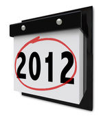 2012 - Wall Calendar Displaying New Year Date — Stock Photo