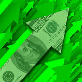 Money Rising - Growth of Investments or Inflation — Stock Photo