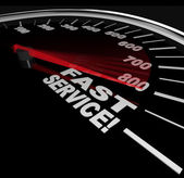 Fast Service - Speedometer of Speedy Customer Support — Stock Photo