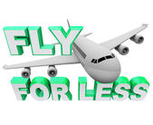 Fly for Less - Save When Booking Air Flight Travel — Stock Photo