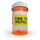 Empty Prescription Bottle - Time to Refill — Stock Photo