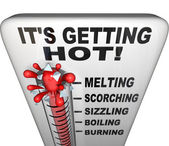 Thermometer - Mercury Rising Bursting - Heat Rising — Stock Photo