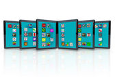 Tablet Computers with Application Icons for Apps — Stock Photo