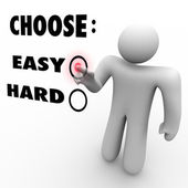 Choose Easy Or Hard - Difficulty Levels — Stock Photo