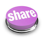 Share Word on Round Button - Generosity — Stock Photo