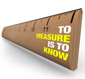 Ruler - To Measure is to Know - Importance of Metrics — ストック写真